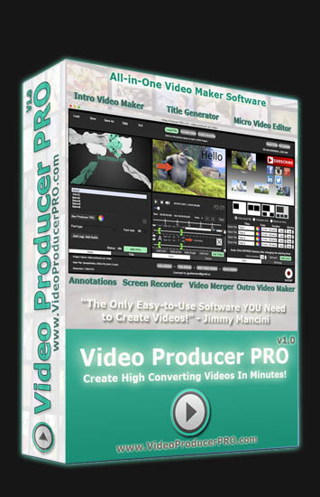 video producer pro software box